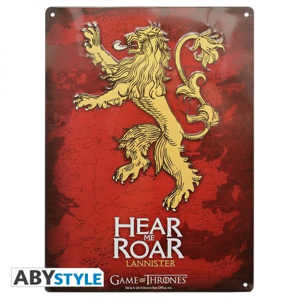 GAME OF THRONES PLACA METAL LANNISTER