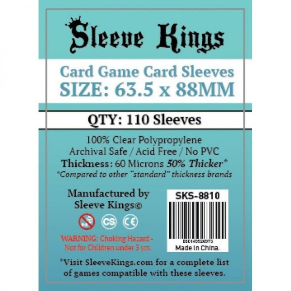 SLEEVE KINGS ESTANDAR (63,50 X 88 MM) (110 FUNDAS)