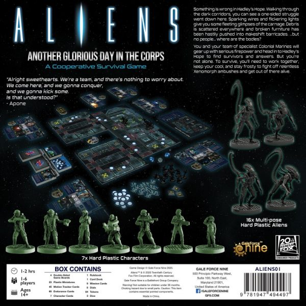 (PREORDER) ALIENS: ANOTHER GLORIOUS DAY IN THE CORPS